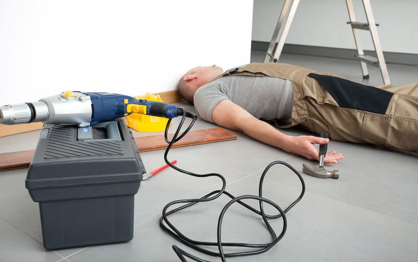 23574340 - manual worker after accident during domestic work